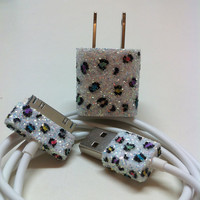 Leopard Print iPhone Charger (w/ or w/ colored spots)