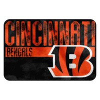 Cincinnati Bengals NFL Bathroom Decorative Foam Rug