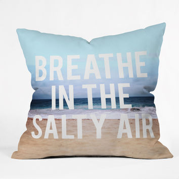 Leah Flores Breathe Outdoor Throw Pillow