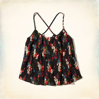 Patterned Pleated Cami