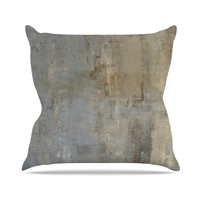 "CarolLynn Tice ""Overlooked"" Brown Gray Throw Pillow"