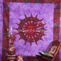 ASTROLOGY Horoscope Zodiac Hippie Hippy Curtain Wall Hanging Indian Tapestry Throw Bedspread Bed Decor Sheet Ethnic Decorative Art