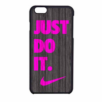 Nike Just Do It Wood Colored Darkwood Wooden Pink iPhone 6 Case