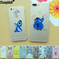 Fundas Coque Case for iphone 6 6s plus SE 5 5s Case Capa Stitch Totoro Hard Back Soft Frame Cover for iphone 7 7plus Phone Cases