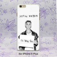Justin Bieber I will show you Design hard White Skin Case Cover for iPhone 4 4s 4g 5 5s 5c 6 6s 6 Plus