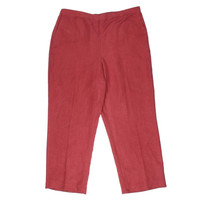 Alfred Dunner Womens Faux Suede Flat Front Casual Pants