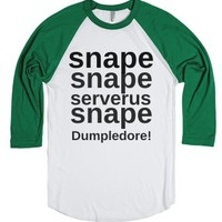 Snape Snape-Unisex White/Evergreen T-Shirt