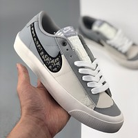 Nike Dior Air Force One low-top casual sports shoes for men and women-2