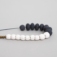 Coral Necklace, Black And White Necklace, Statement Necklace, Long Necklace, Sponge Coral
