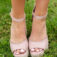 It's Party Time Wedges, Dusty Mauve