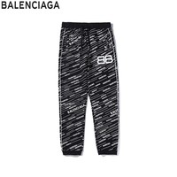 Balenciaga 2019 new full printed logo casual trousers
