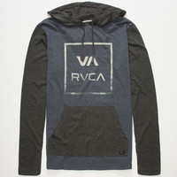 Rvca All The  Way Mens Lightweight Hoodie Navy Combo  In Sizes