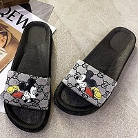 Gucci Slippers 2020 new style slippers slippers on the seaside soft bottom non-slip sand shoes grey