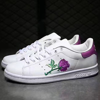 Adidas: Embroidered Flower casual shoes