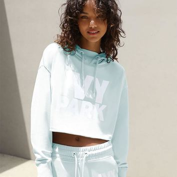 Ivy Park Raw Edge Cropped Hoodie at PacSun.com - mint   PacSun