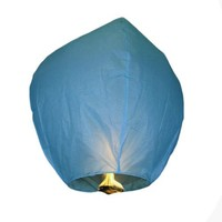 Blue Sky Fire Chinese Lantern Flying Paper Wish Wishing Balloon for Wedding Festival Xmas Christmas Party