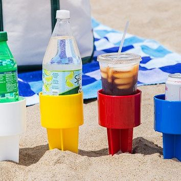 Sand Drink Holders Set of 4 by Spiker   The Grommet