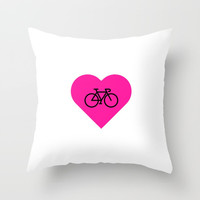 love my bike Throw Pillow by Love from Sophie