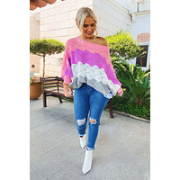 Saw You There Sweater: Multi