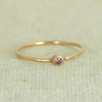 Tiny Alexandrite Rose Gold Filled Ring