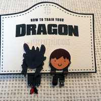 Ear jacket earrings: How to train your dragon