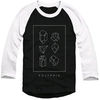 Polyphia Men's  Shapes Baseball Jersey Black & White