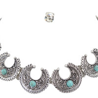 Navajo Gypsy Western Cowgirl Vintage Intricate Choker Necklace