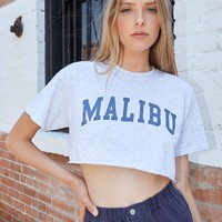John Galt Malibu Cropped T-Shirt at PacSun.com - gray | PacSun