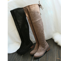 Thigh High Over the Knee Boots Flat Bottom Round Toe