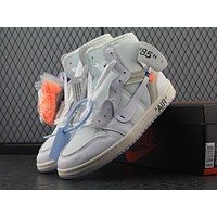 OFF-White x Nike Air Jordan 1 Men Sneakers
