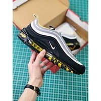 Nike Air Max 97 Black Silver Yellow Sport Running Shoes