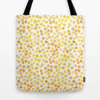 Sunny Little Flowers Pattern Tote Bag by Marie Gardeski