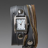 LA MER Goa Wrap Watch in Grey/Silver/Rosegold at Revolve Clothing - Free Shipping!
