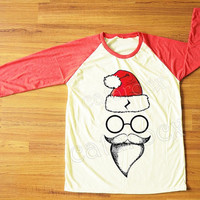 Santa Pott Head T-Shirt Merry Christmas Tee Shirt Funny TShirt Red Sleeve Tee Shirt Women Shirt Men Shirt Unisex Shirt Baseball Shirt S,M,L