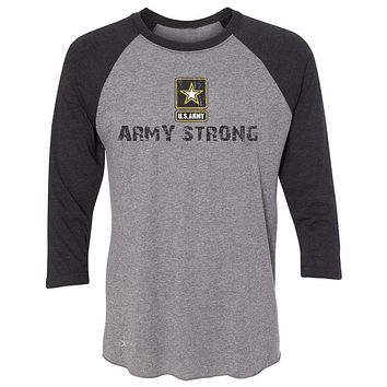 "Zexpa Apparelâ""¢ Army Strong US Army Unisex - 3/4 Sleevee Raglan Tee Military Star Cool Tee"