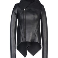 Rick Owens Lilies Leather Outerwear - Rick Owens Lilies Leatherwear Women - thecorner.com