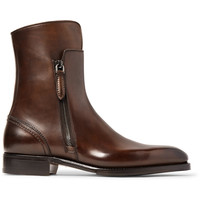 Ermenegildo Zegna - Polished-Leather Boots