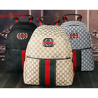 Gucci new backpack computer bag red and green striped shoulder strap fashionable men and women zipper backpack