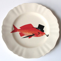 Dapper Goldfish plate