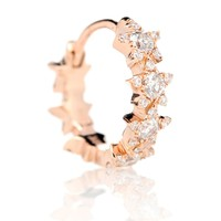 8mm Diamond Constellation Eternity Ring 18kt rose gold and diamond earring