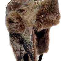 Realtree Camo Fur Bomber Hat
