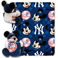 New York Yankees MLB Mickey Mouse with Throw Combo