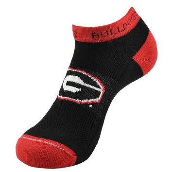 Georgia Bulldogs Spirit No-Show Socks - Youth, Size: 7-9 (Red)