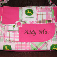 Made To Order John Deere Diaper Bags and Changing Pad You Pick Color and Free Name Embroidery