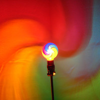 The ORIGINAL HandPainted Rainbow Spiral MoodLight by MoodLights