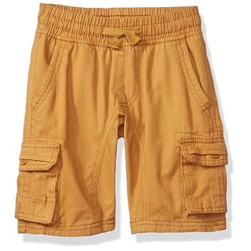 Southpole Little Boys Mini Canvas Cargo Jogger Shorts In Basic Solid Colors, Wh