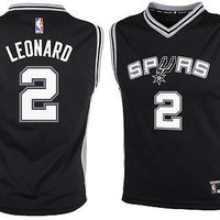 Kawhi Leonard San Antonio Spurs Black Road Authentic Boys NBA Youth Jersey
