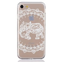 New Hollow Out Lace Elephant iPhone 6 6s Plus & iPhone 7 7Plus & iPhone se 5s + Gift Box-82