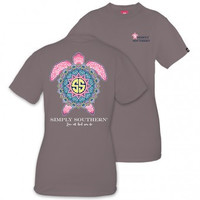 "Simply Southern ""Boho Turtle"" Short Sleeve Tee"