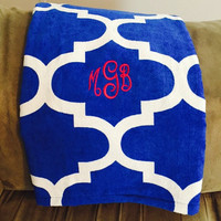 Cute Monogrammed Beach Towels